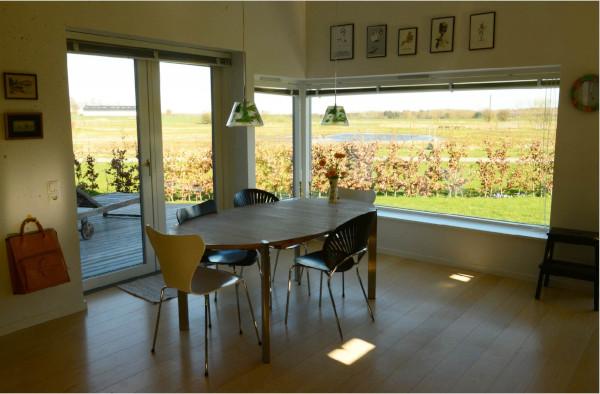 Køkken alrum med udsigt - arkitekt Jan Bille