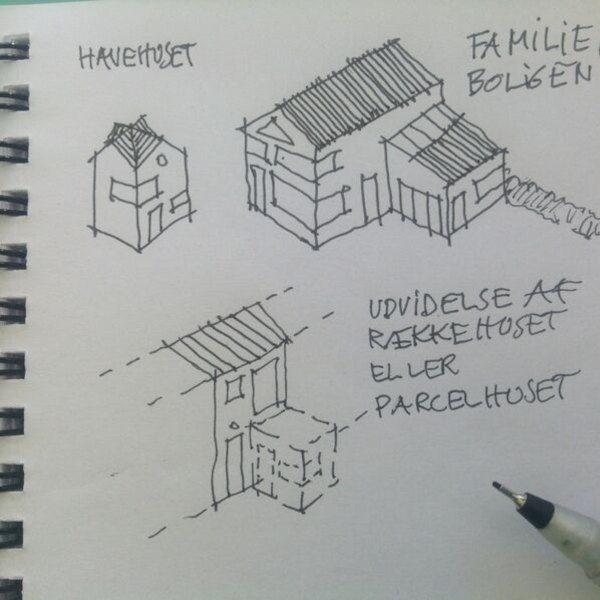 Byggeri efter behov - skitsetegning