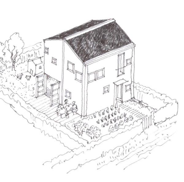 Atelierhuse med haver